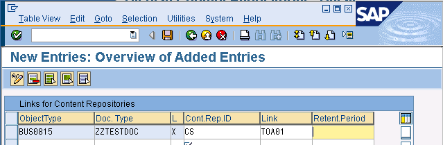 Configuration of the SAP System